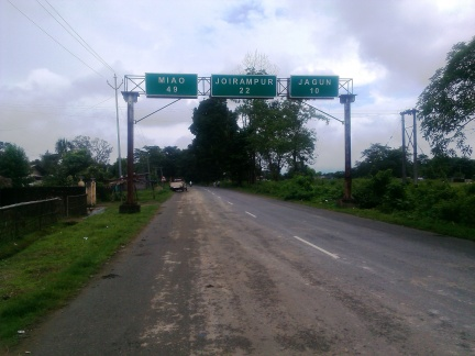 The Present Day Stilwell Road at Lekhapani Army Cantonment in Assam