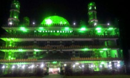 The Madina Masjid is the only Glass Mosque of India and is the largest in the North Eastern Region of India