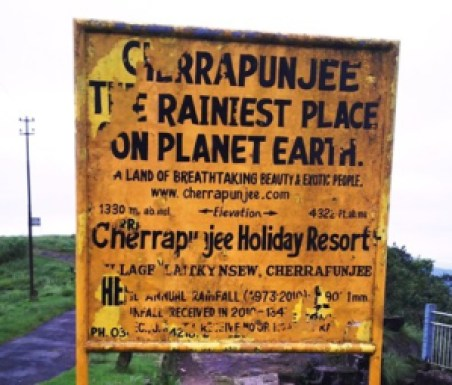 Cherrapunjee near Shillong is the Wettest Place on Planet Earth that records the heaviest rainfall anywhere in the World