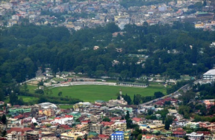 An Aerial view of the Majestic City of Shillong aka 'the Scotland of the East' and 'India's Rock Capital'