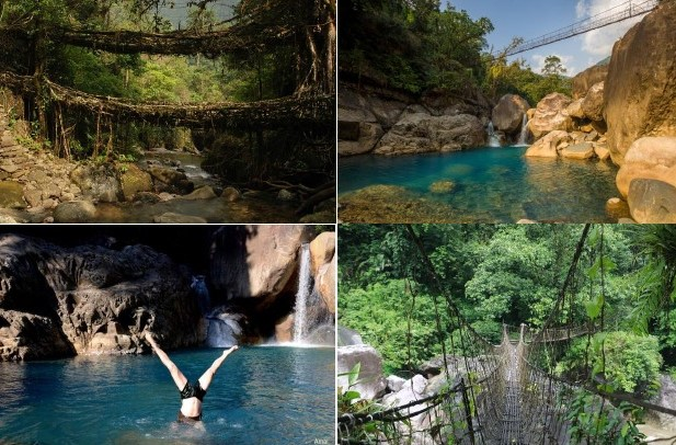 North East India Trekking Tours, Mawlynnong Village Trek, Mawhplang Meghalaya, Living Root Bridges Meghalaya