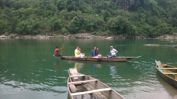 Dawki Border India Bangaldesh, Boating at Dawki, Umngot River Dawki, Meghalaya Tourism