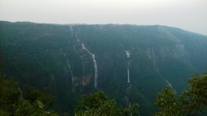 Tallest Waterfall India, Seven Sister Falls Cherrapunjee, Nohkalikai Falls Cherrapunjee, Meghalaya Tourism, Cherrapunjee Rains Meghalaya